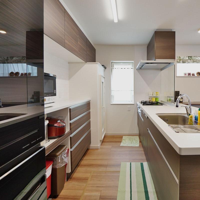 奥様の理想のキッチンを実現した家事ラクの家【4LDK】